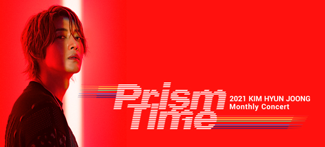 the poster of KIM HYUN JOONG Monthly Concert 'Prism Time'