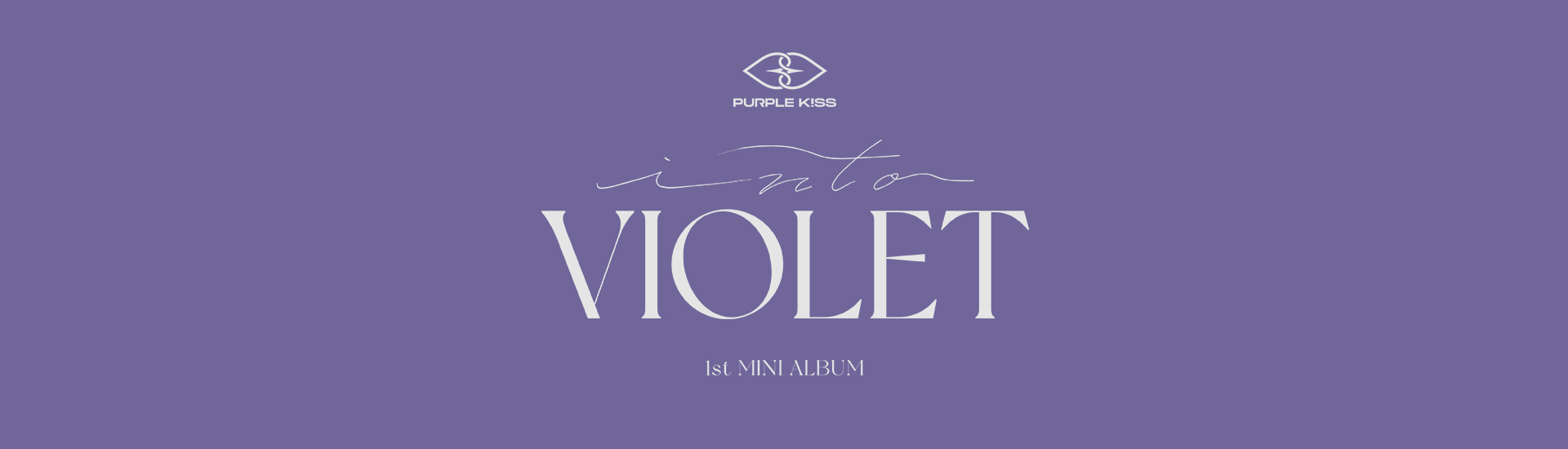 PURPLE K!SS - 1ST MINI ALBUM [INTO VIOLET] CALL FAN SIGN