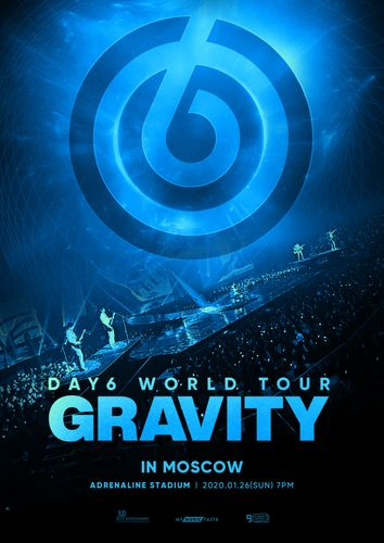 the poster of DAY6 WORLD TOUR 'GRAVITY' IN MOSCOW