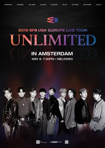 the poster of 2019 SF9 USAㆍEUROPE LIVE TOUR [UNLIMITED] IN AMSTERDAM
