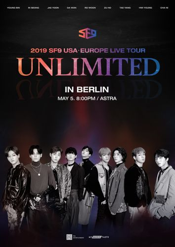 the poster of 2019 SF9 USAㆍEUROPE LIVE TOUR [UNLIMITED] IN BERLIN