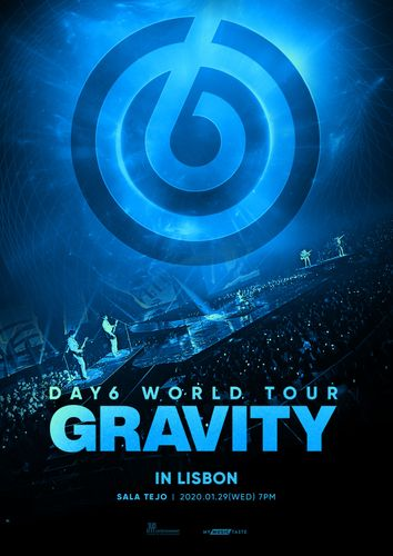 the poster of DAY6 WORLD TOUR GRAVITY IN LISBON