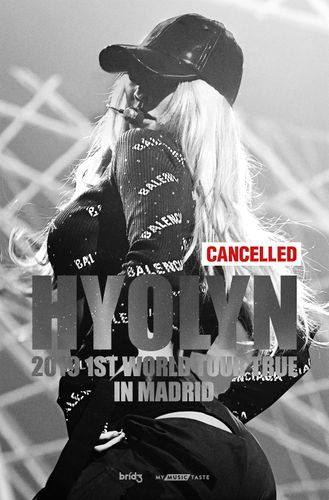 the poster of HYOLYN 2019 1ST WORLD TOUR TRUE IN MADRID