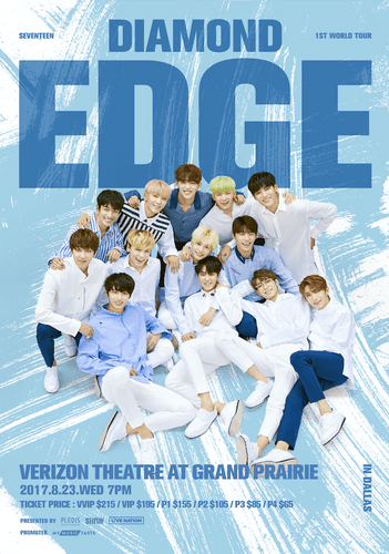the poster of  2017 SEVENTEEN 1ST WORLD TOUR IN DALLAS