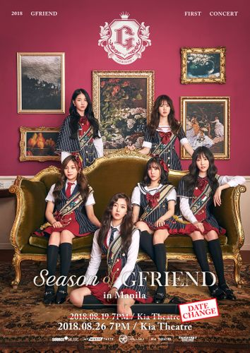 the poster of 2018 GFRIEND FIRST CONCERT 'Season of GFRIEND' in Manila