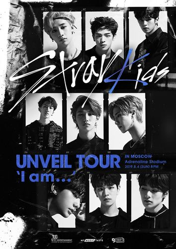 the poster of Stray Kids UNVEIL TOUR 'I am …' in MOSCOW