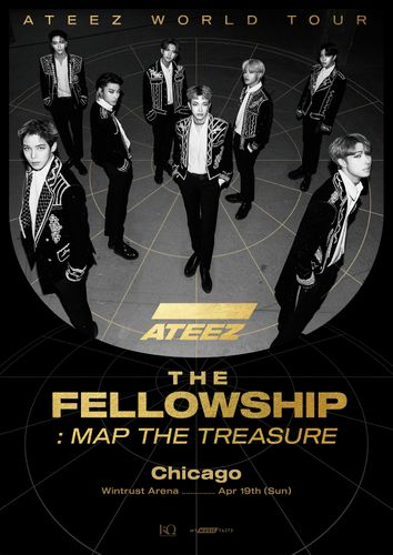the poster of ATEEZ WORLD TOUR The Fellowship: Map The Treasure In Chicago