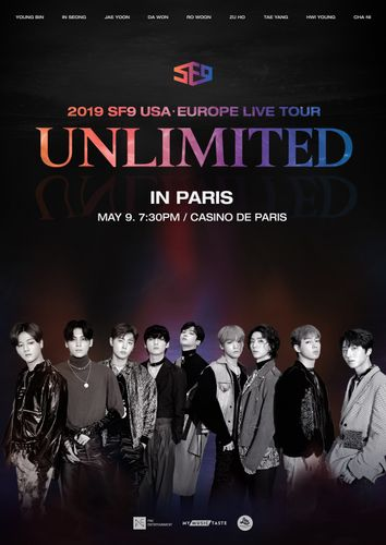 the poster of 2019 SF9 USAㆍEUROPE LIVE TOUR [UNLIMITED] IN PARIS