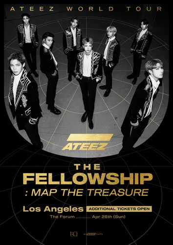 the poster of ATEEZ WORLD TOUR The Fellowship: Map The Treasure In Los Angeles