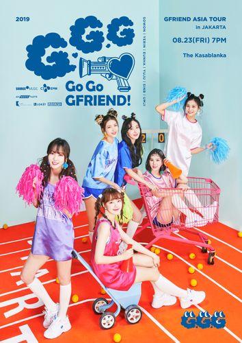 the poster of 2019 GFRIEND ASIA TOUR [GO GO GFRIEND!] in JAKARTA