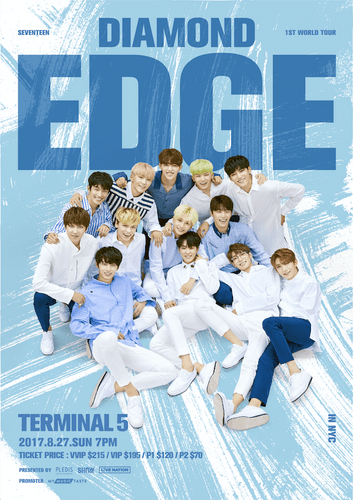 the poster of  2017 SEVENTEEN 1ST WORLD TOUR IN NEW YORK
