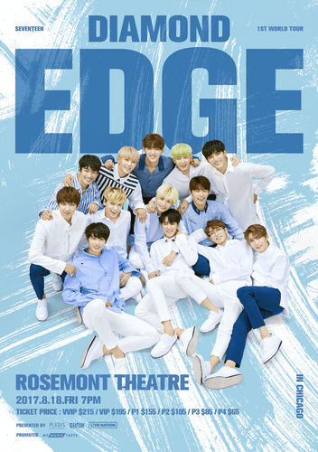 the poster of  2017 SEVENTEEN 1ST WORLD TOUR IN CHICAGO