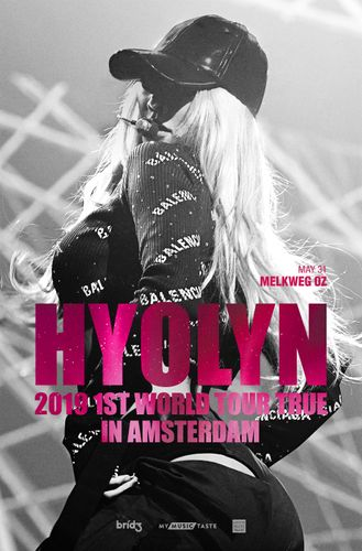 the poster of HYOLYN 2019 1ST WORLD TOUR TRUE IN AMSTERDAM