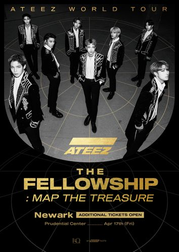 the poster of ATEEZ WORLD TOUR The Fellowship: Map The Treasure In Newark