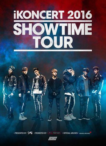 the poster of iKONCERT 2016 'SHOWTIME TOUR' - Hong Kong
