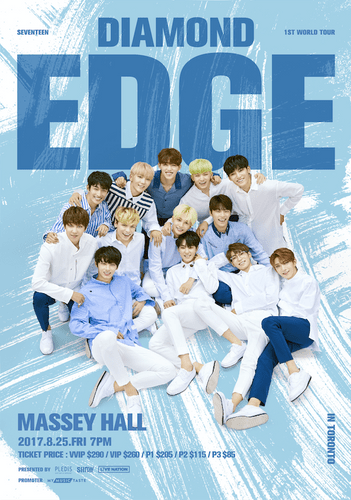 the poster of  2017 SEVENTEEN 1ST WORLD TOUR IN TORONTO
