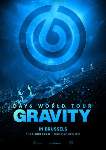 the poster of DAY6 WORLD TOUR 'GRAVITY' IN BRUSSELS
